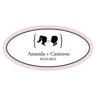 Sweet Silhouettes Small Wedding Window Cling