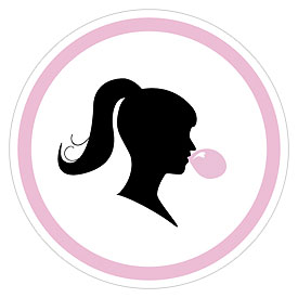 Sweet Silhouettes Medium Wedding Favor Sticker