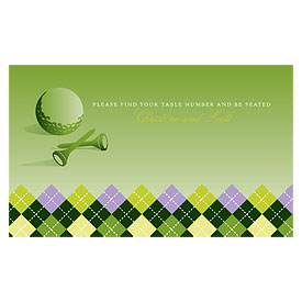 Golf Wedding Reception Escort Table Sign Card