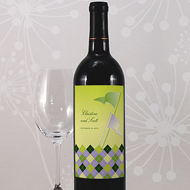 Golf Wine Label