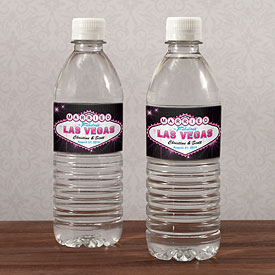 Las Vegas Water Bottle Labels