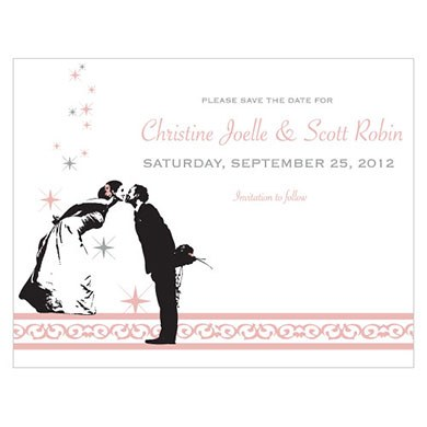 Vintage Hollywood Wedding Save The Date Card