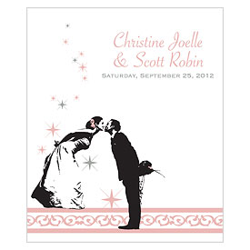 Vintage Hollywood Rectangular Wedding Label