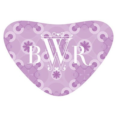 Floral Pattern Heart wedding favor Container Sticker