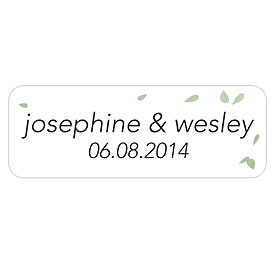 Floating Leaf Wedding Accessory Sticker