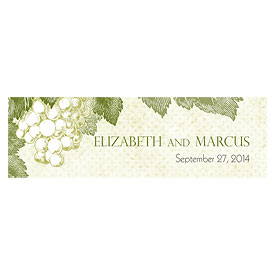 A Wine Romance Wedding Small Rectangular Tag