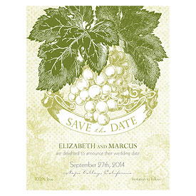 A Wine Romance Wedding Save The Date Card