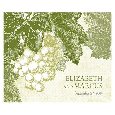 A Wine Romance Wedding Rectangular Label