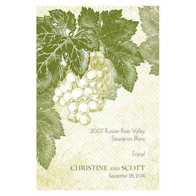 A Wine Romance Wedding Wine Label