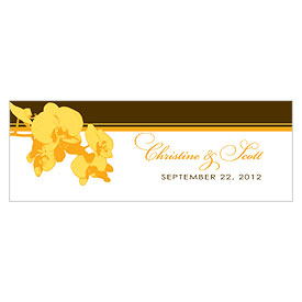 Orchid Glamour Small Rectangular Wedding Favor Tag