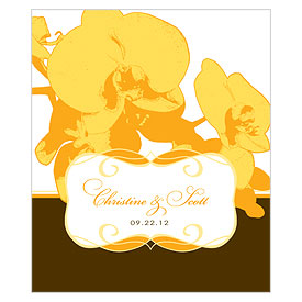 Orchid Glamour Rectangular Wedding Favor Label