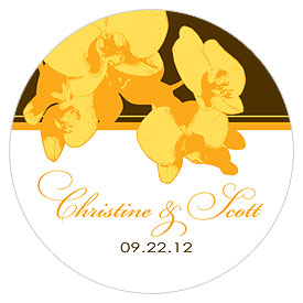 Orchid Glamour Large Wedding Favor Sticker