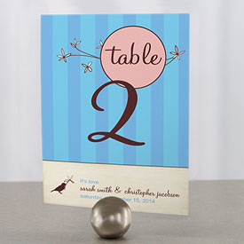 Whimsical Garden Wedding Reception Table Number Card