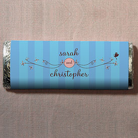 Whimsical Garden Chocolate Bar Wedding Favor