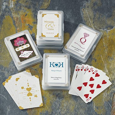 King of Hearts Playing Card Favor Sticker