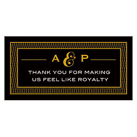 King and Queen Small Rectangular Wedding Tag