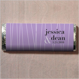 Lines Chocolate Bar Wedding Favor