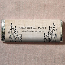 Rustic Country Wedding Nut Free Gourmet Milk Chocolate Bar