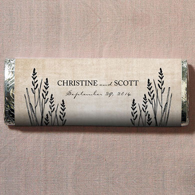 Rustic Country Chocolate Bar Wedding Favor