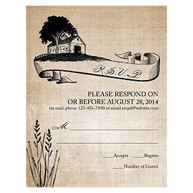 Rustic Country Wedding RSVP