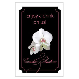 Classic Orchid Large Wedding Ticket