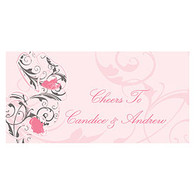 Classic Orchid Small Wedding Ticket