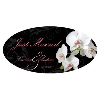 Classic Orchid Large Wedding Clings