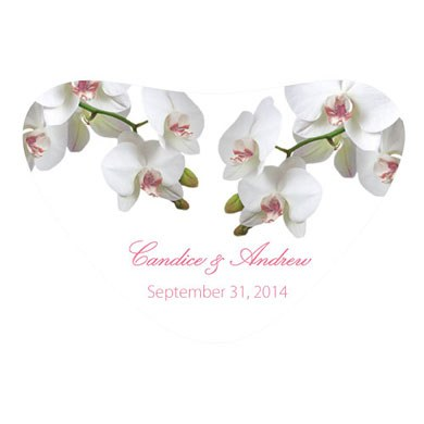 Classic Orchid Heart Container Wedding Sticker