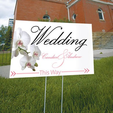 Classic Orchid Wedding Reception and Ceremony Directional Road Signs
