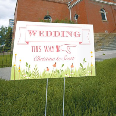 Homespun Charm Wedding Reception and Ceremony Directional Road Signs