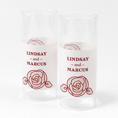 Rose Mini Luminary Votive Candle Wrap