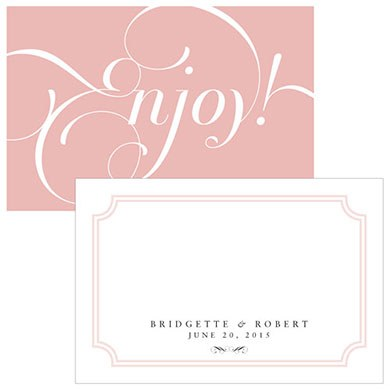 Expressions Wedding Large Rectangular Tag