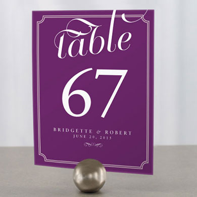 Expressions Wedding Table Number