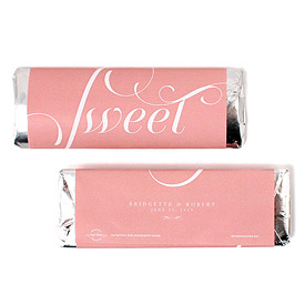 Expressions Wedding Nut Free Gourmet Milk Chocolate Bar