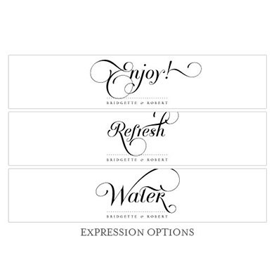 Expressions Wedding Water Bottle Label