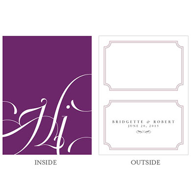 Expressions Wedding Place Card With Fold