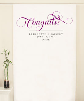 Expressions Personalized Wedding Photo Booth Backdrop
