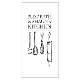 Kitchen Tools Rectangular Wedding Tag