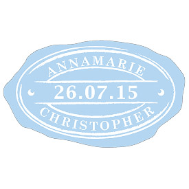 Oval Seal Wedding Stationery Sticker