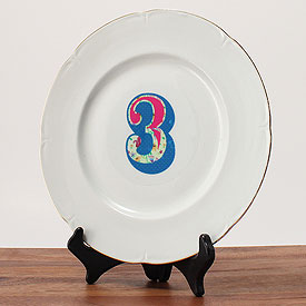 Homespun Wedding Table Number Decal