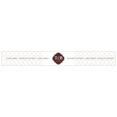 Classic Crest Paper Wrap Wedding Favor Ribbon