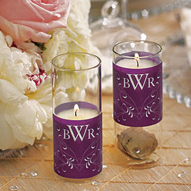 Flourish Monogram Mini Luminary Votive Candle Wrap