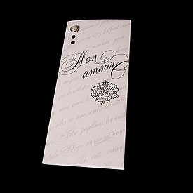 Parisian Love Letter Trifold Wedding Program Bulletin
