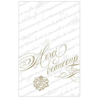Parisian Love Letter Wedding Thank You Card