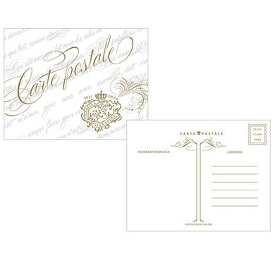 Parisian Love Letter Wedding Post Card