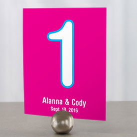 Retro Pop Wedding Table Number