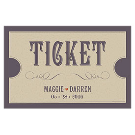 Vineyard Wedding Large Ticket