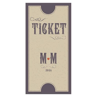 Vineyard Wedding Small Ticket