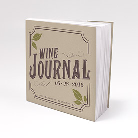 Vineyard Personalized Book Style Wedding Favor Notepad