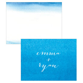 Aqueous Wedding Note Card